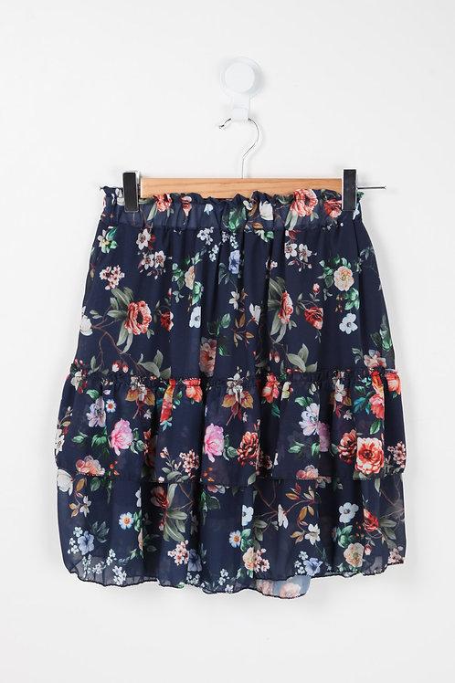 Jupos - Flæse nederdel med blomsterprint