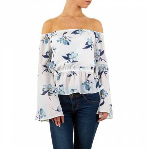 OFF SHOULDER BLUSE MED BLOMSTER
