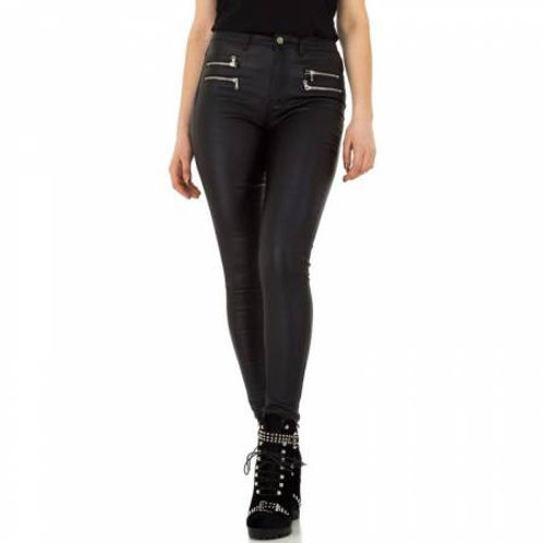 Bukser i læder look