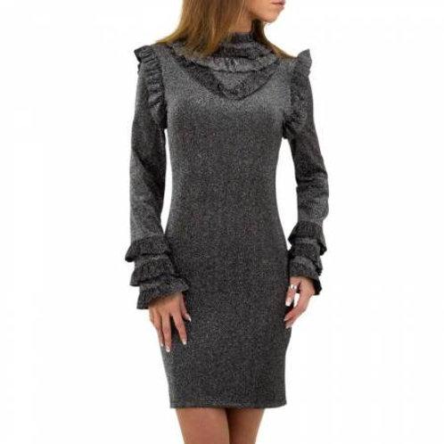 Glimmer kjole med flæser