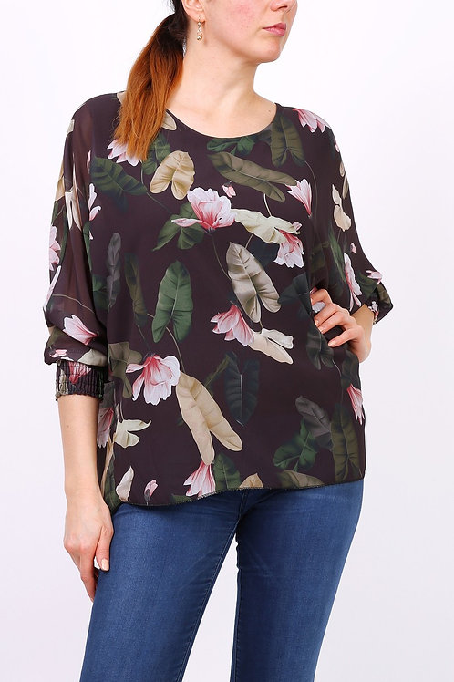 Emily - Bluse med blomstermotiv