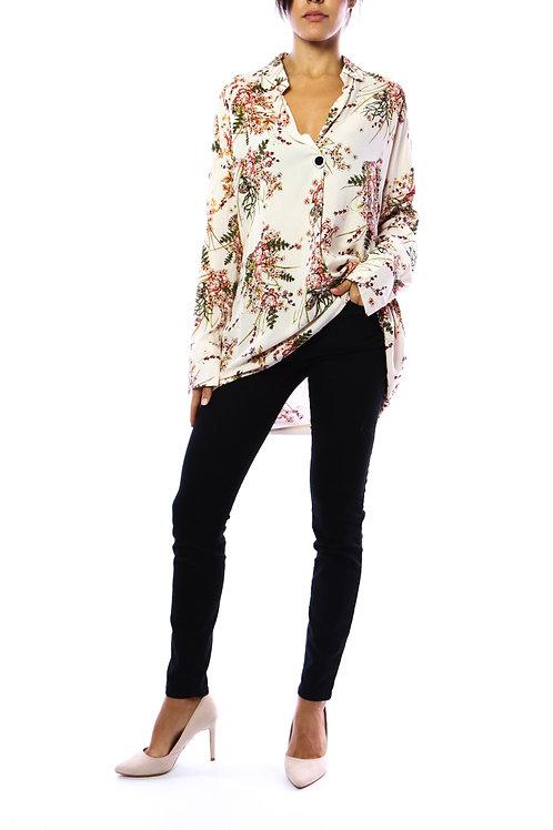 Chemises - Skjorte bluse med blomsterprint