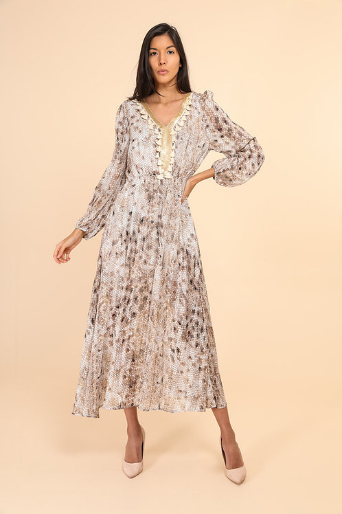 Alexia - Boheme kjole med glitter