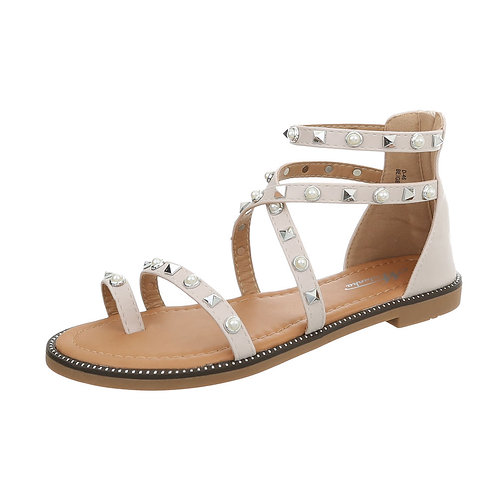 Mura - Gladiator sandal med perler