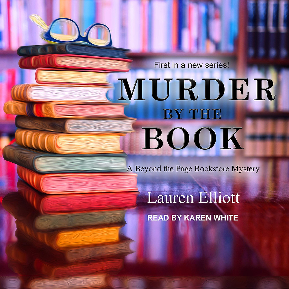 Cover of the audio book, Murder by the Book by Lauren Elliott