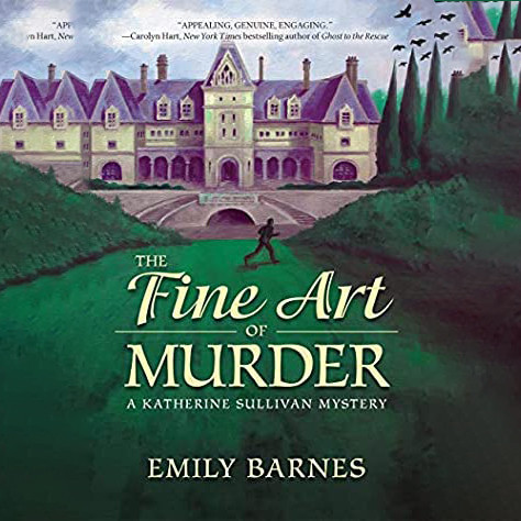 Cover of the audio book, The Fine Art of Murder by Emily Barnes