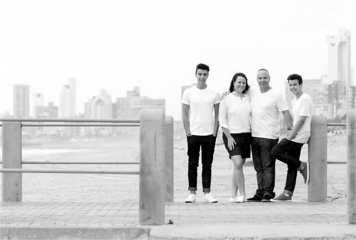 Shrives Family in Black & White