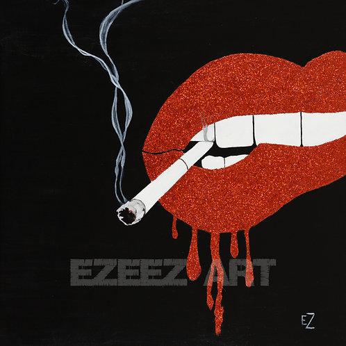 Smoking Lips- Print