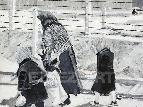 Historic Auschwitz Scene