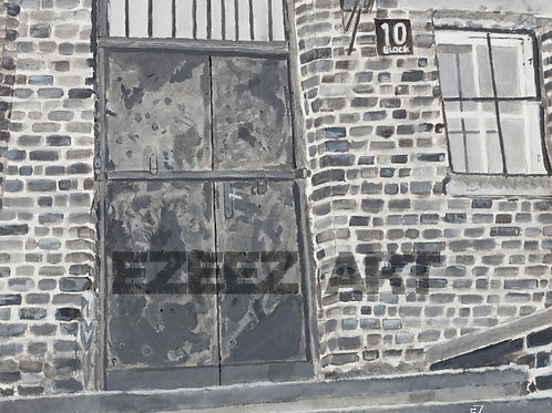 Block 10/Aushwitz-Print
