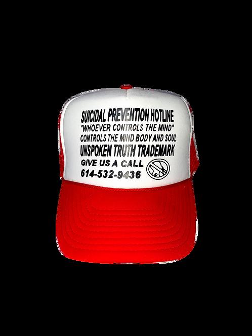 """""""Prevent Suicide"""" Trucker Hat Red"""