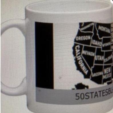 50 States Black Mug (15oz)