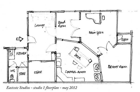 Eastcote Studio 1 Floor Plan