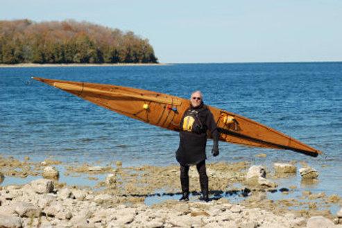 Wood Cored Composite Kayak