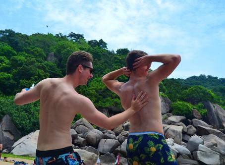 "August: Beach Crawl ""Never get sunburn (alone)"""