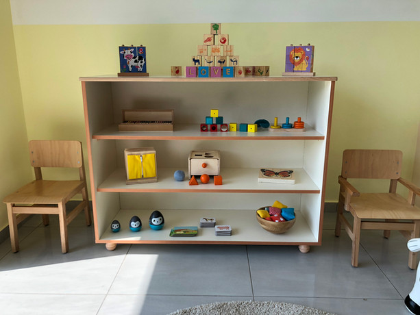 Child-sized shelves