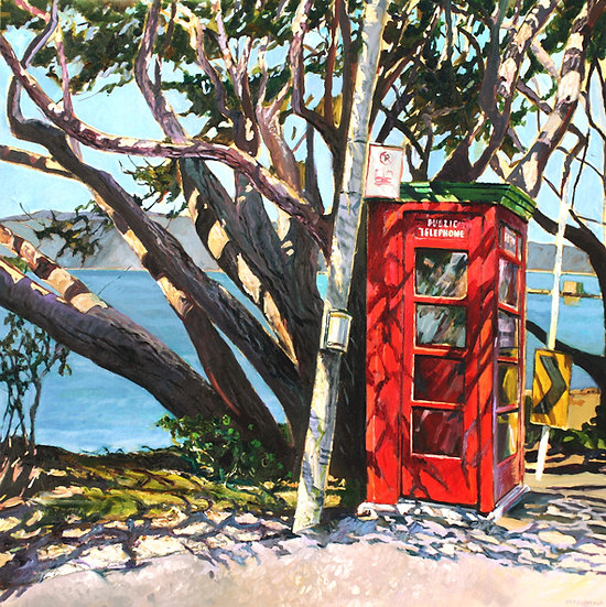 Phone Box at Karaka Bay