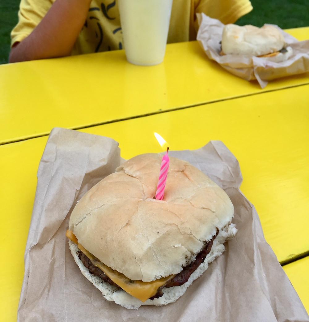 yep, birthday burger!