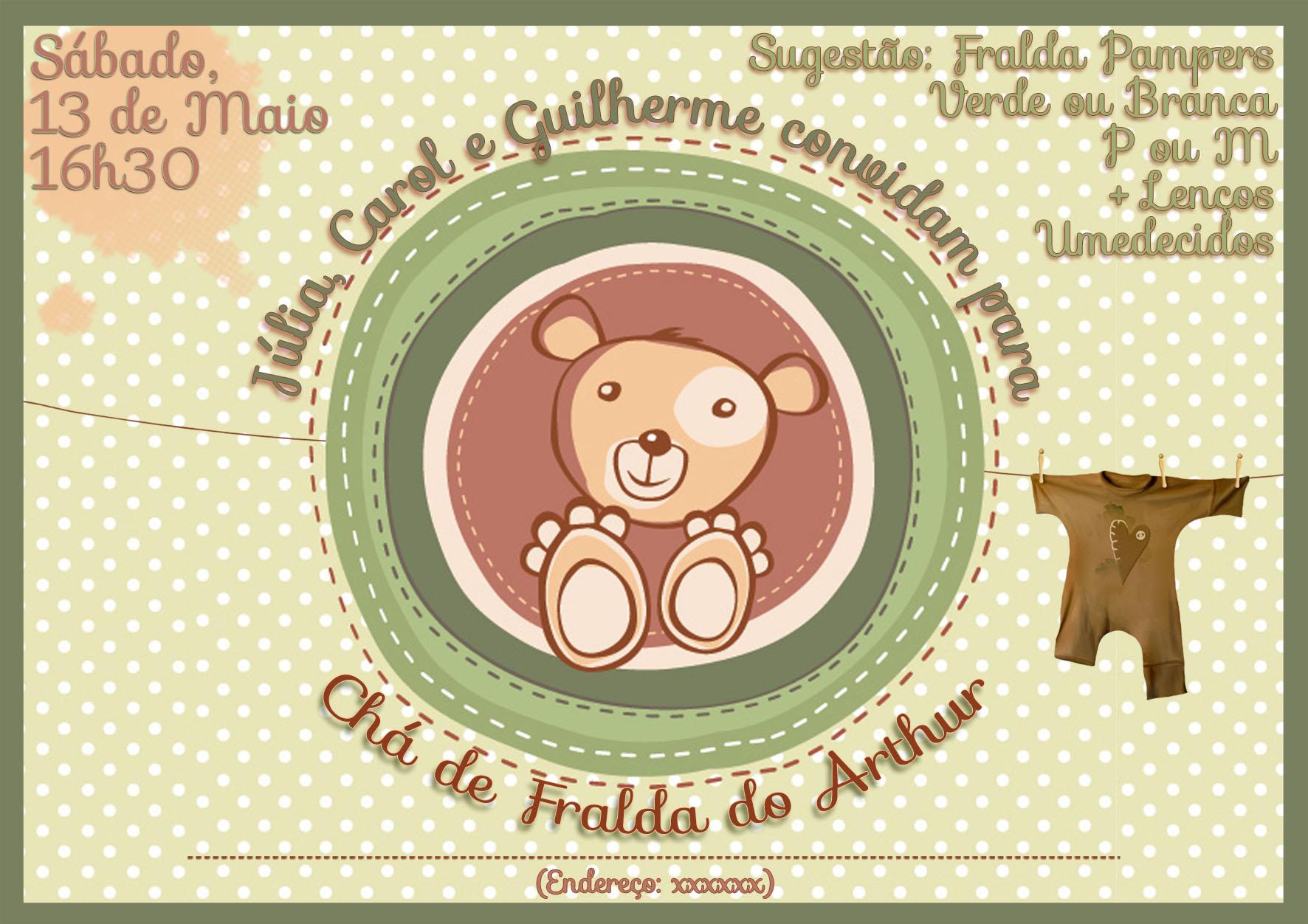 PRArt Cha Fralda Arthur PEQ