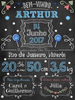 PRArt Chalk Arthur NEWBORN