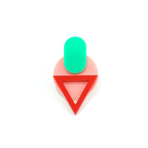 Coval Green Single Earring