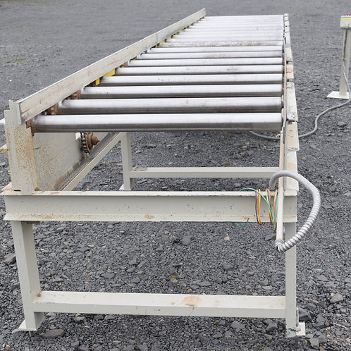 18ft Power infeed table roll case with fence