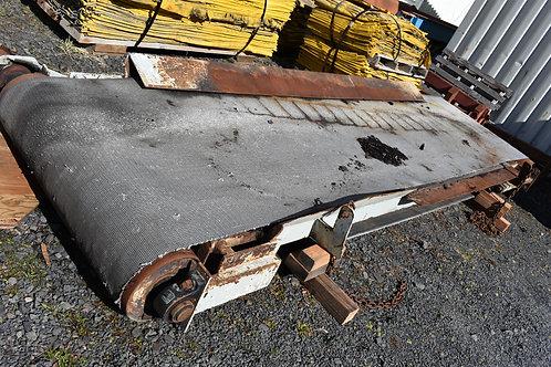 4ft wide x 16ft long flat belt conveyor