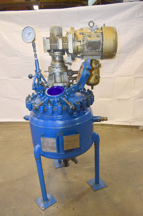 Relined 20 gallon Pfaudler batch reactor re-glassed reactor