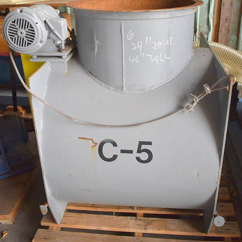 """24 inch inlet, rotary airlock valve, 46"""" tall,"""