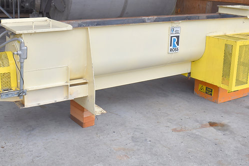 "Ribbon screw feeder conveyor, 16""+ wide trough, 11ft 4 inches"