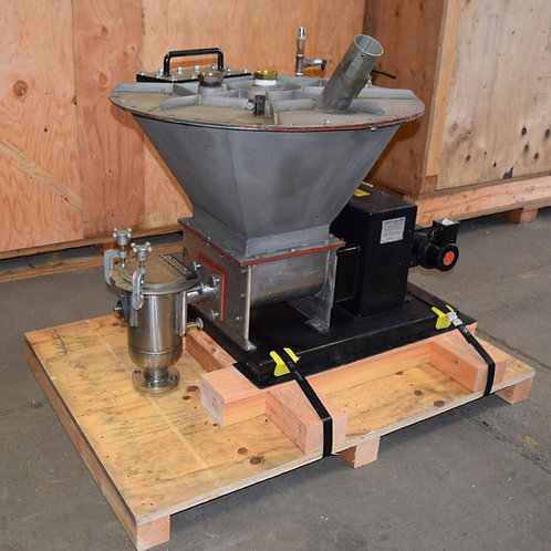Acrison stainless BDF-1 volumetric feeders, dissimilar speed auger
