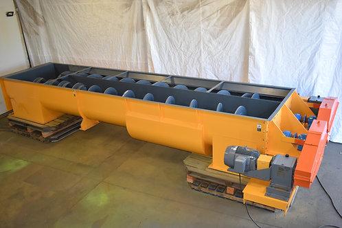 "twin screw 36"" hollow screw augers, 27ft long dual  shaftless  conveyor,"