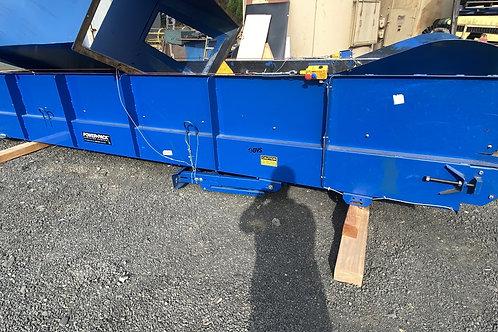 4ft wide X 17ft long belt conveyor, 51 feet per minute