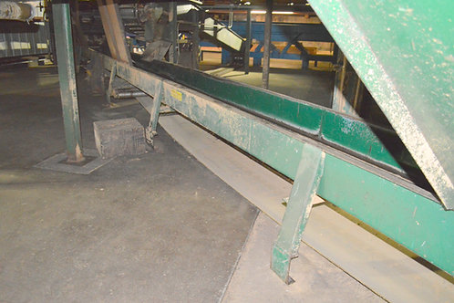150ft long+-, 24 inch long trough belt conveyor,