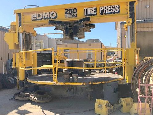 Edmo 250 LD Tire press, used 250 ton tire press