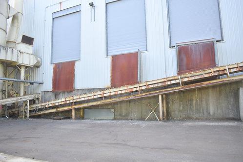 "120 ft long X 36"" wide belt conveyor,"