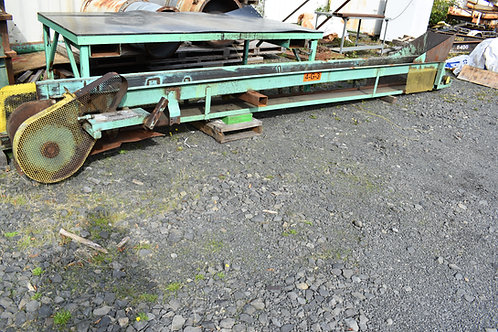 "22ft long flat belt trough conveyer, 14"" wide belt conveyor Several gear boxes a"