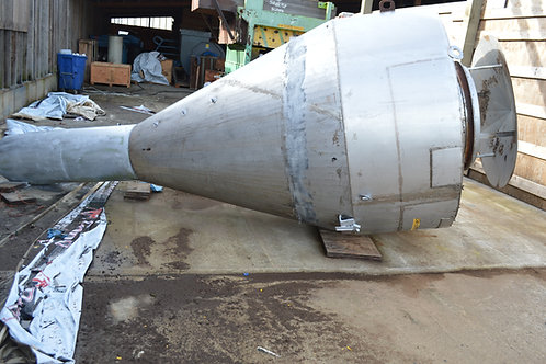 Stainless 6ft diameter dust cyclone