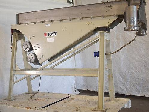 """Stainless steel jacketed vibrating conveyor 100"""" X 14"""", Jost vibratory stainles"""