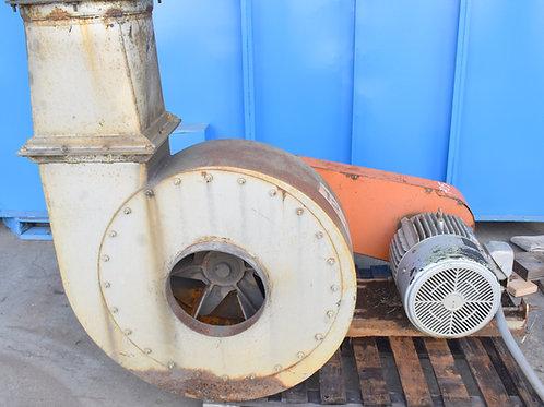 25HP material handling fan, matching high-efficiency dust cyclone
