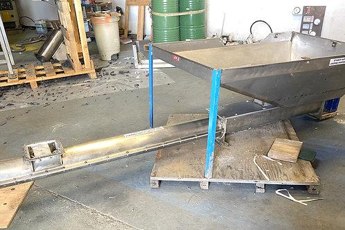 "used 6"" stainless steel screw auger conveyor & hopper"