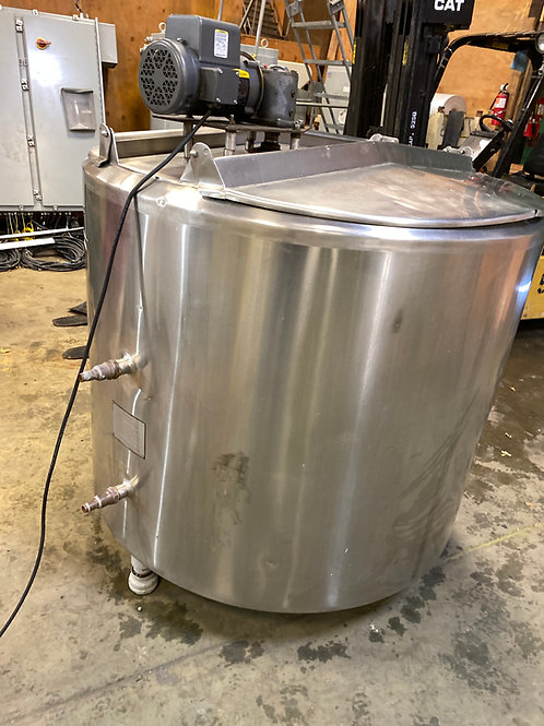300-gallon stainless jacketed mixing kettle