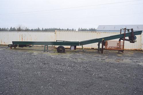 "incline refuse chevron belt conveyor for sale, 48 ft. 32"" wide trough conveyor"