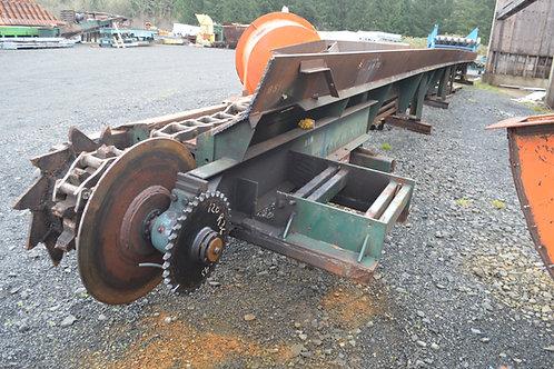 132H chain log transfer conveyor, apprx. 70 ft long