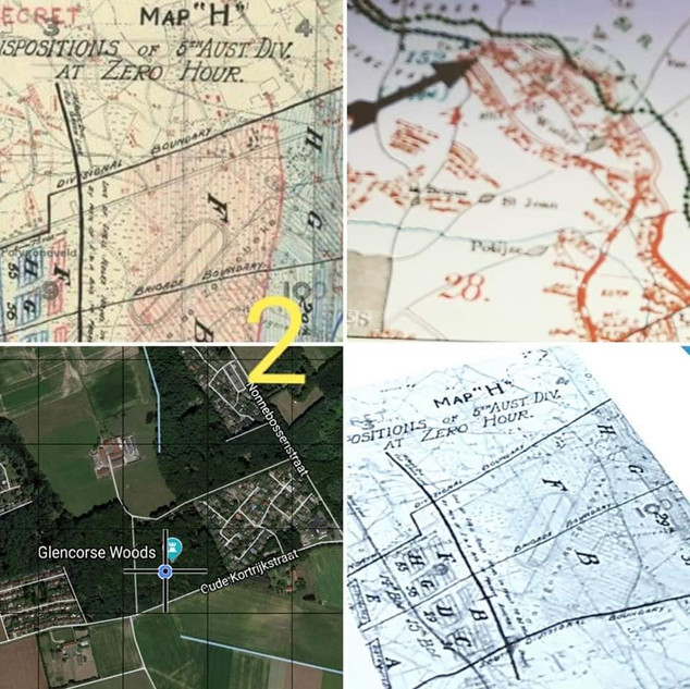 step (2) Determining the right location on the war maps