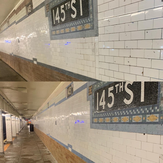 Train Station Wall cleaning - Above All Pressure Cleaning