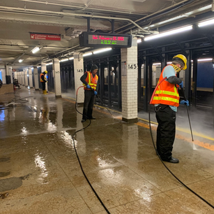 Train station cleaning - Above All Pressure Cleaning