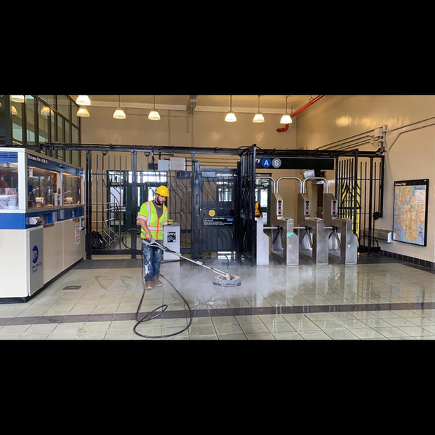 Ticket Station Cleaning - Above All Pressure Cleaning