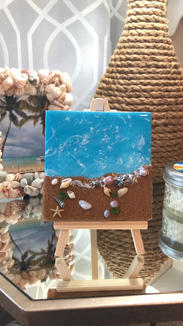 Bitty Beach With Easel