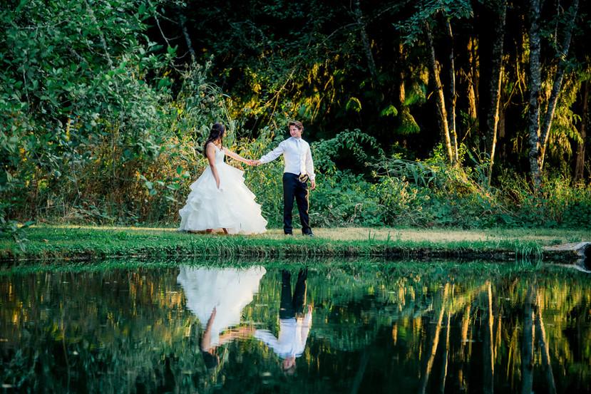 Rikki and Josh by the grove lake, Karen